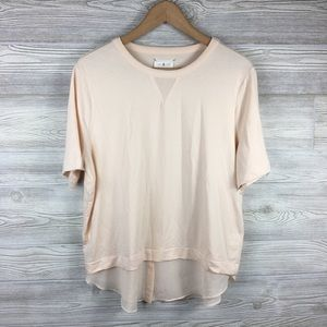 Lou & Grey | Two-Layered Short Sleeve Blouse